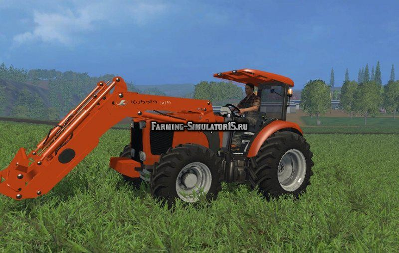 Мод трактор Kubota 9540 FL v 1.0 Farming Simulator 15