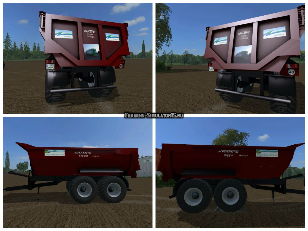 Мод прицеп Krampe Dumper v 1.0 with Zingg Transporte log Farming Simulator 2015