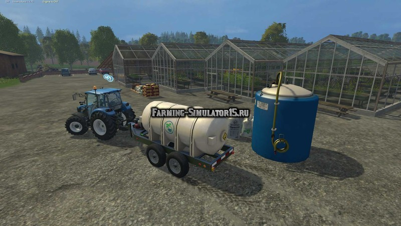 Мод бочка Lizard Fertilizer Trailer v 1.0 Farming Simulator 15