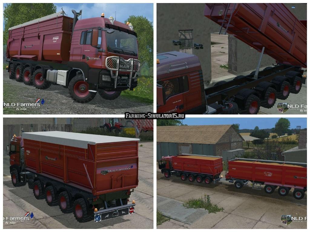 Мод грузовик MAN TGS 10X8 KrampeBB900S v 1.2 Farming Simulator 2015