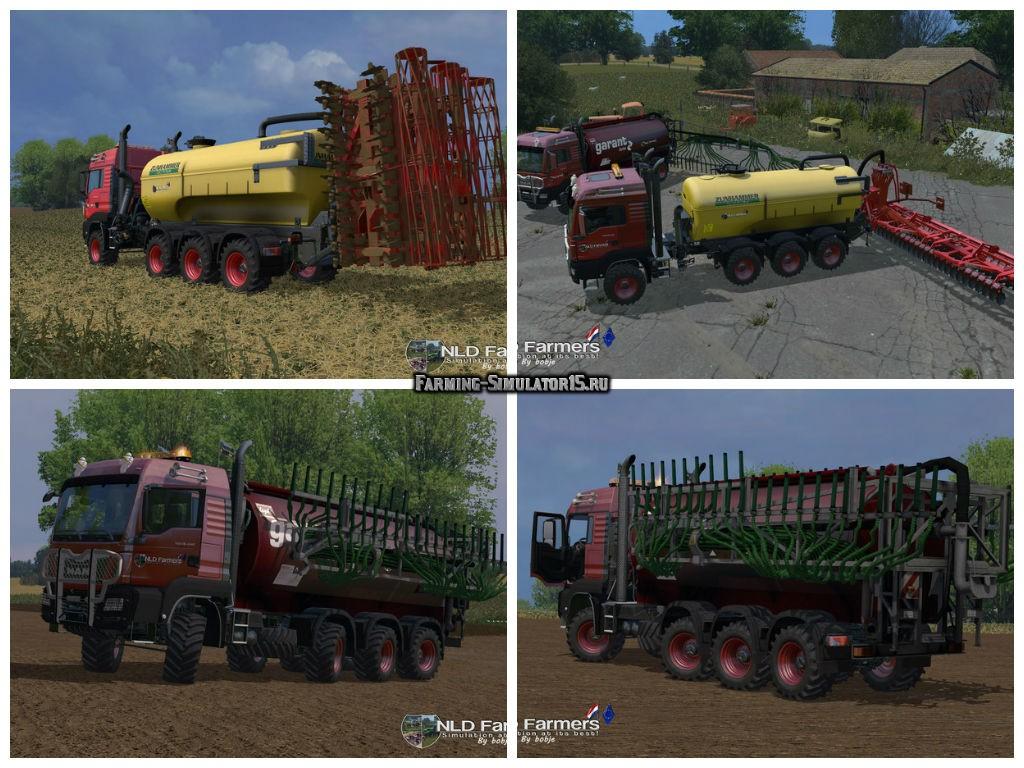 Мод грузовик MAN TSG 10x8 liquidManure Pack v 1.0 Beta Farming Simulator 2015