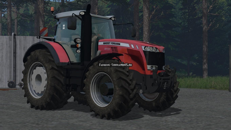 Мод трактор Massey Ferguson 8737 v 1.1 Farming Simulator 15