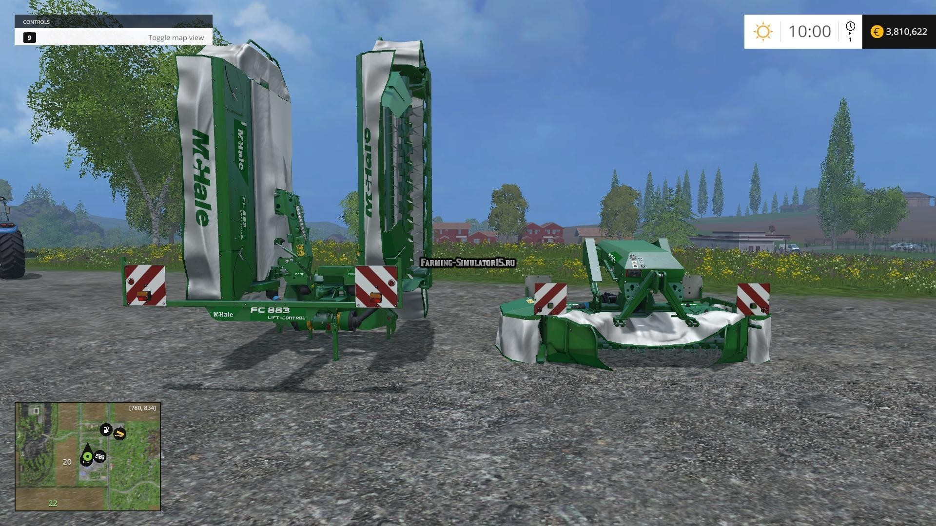 Мод косилка McHale F1300 & H9000 ProGlide Mowers v 1.1 Farming Simulator 15