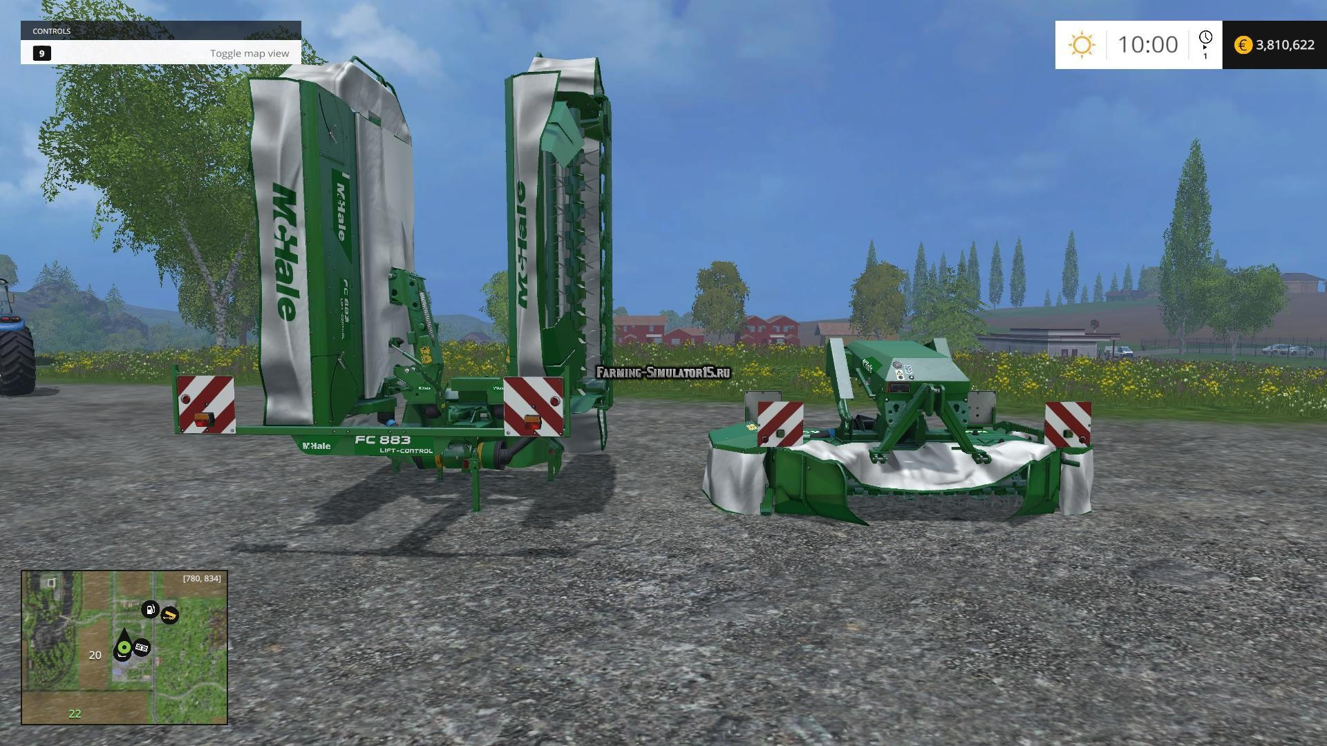 Мод косилка McHale F1300 & H9000 ProGlide Mowers v 1.0 Farming Simulator 2015