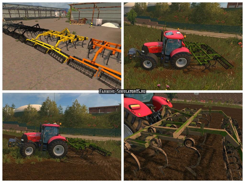 Мод культиватор NoName Cultivator v 1.1 Farbwahl Farming Simulator 15