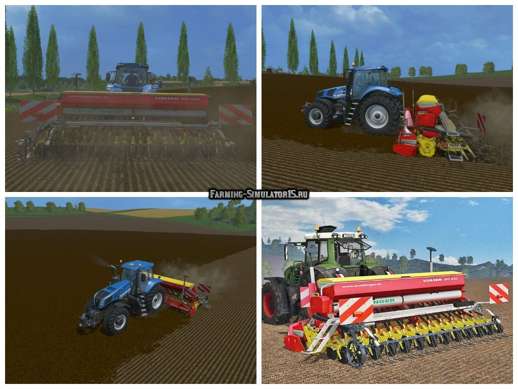 Мод сеялка Poettinger Vitasem 302A v 2.0 Farming Simulator 15