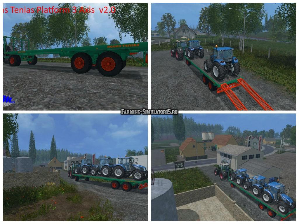 Мод трал Platform Aguas Tenias 3 Axis v 2.0 Farming Simulator 2015