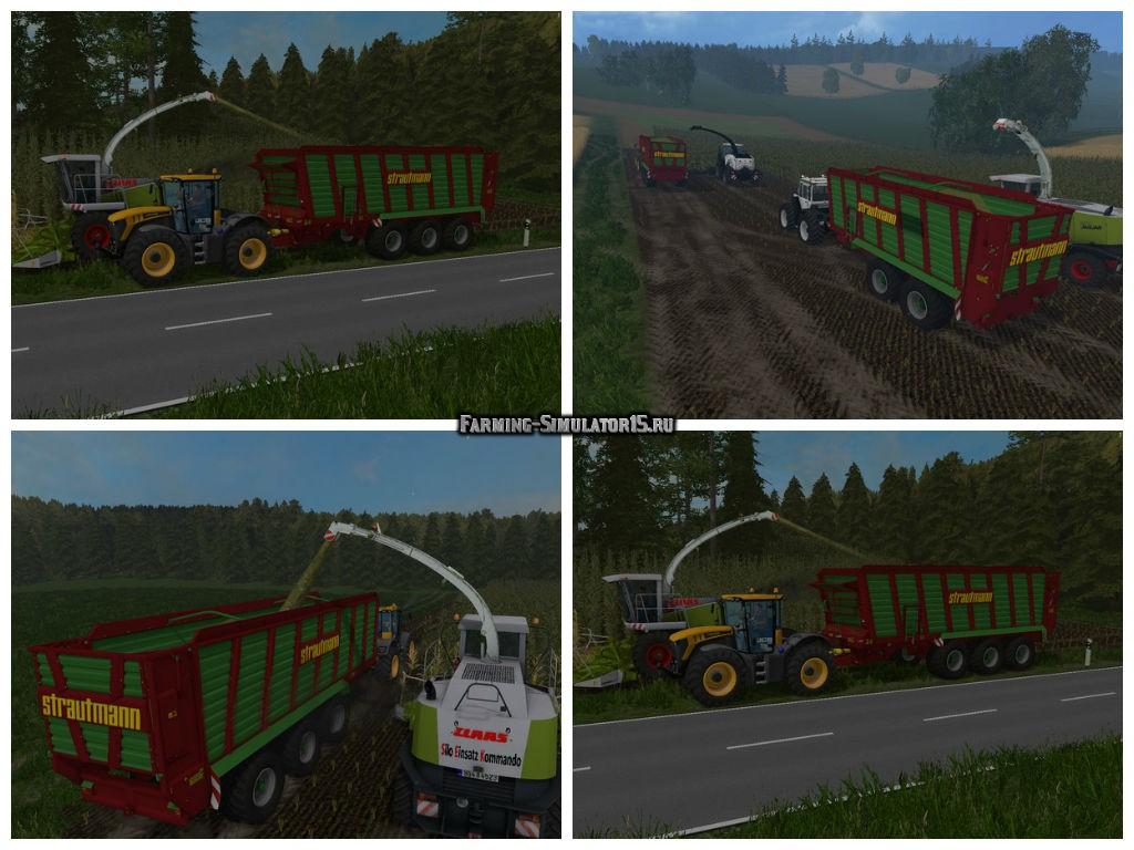 Мод прицеп Strautmann Giga Trailer 4001 v 1.0 Farming Simulator 15