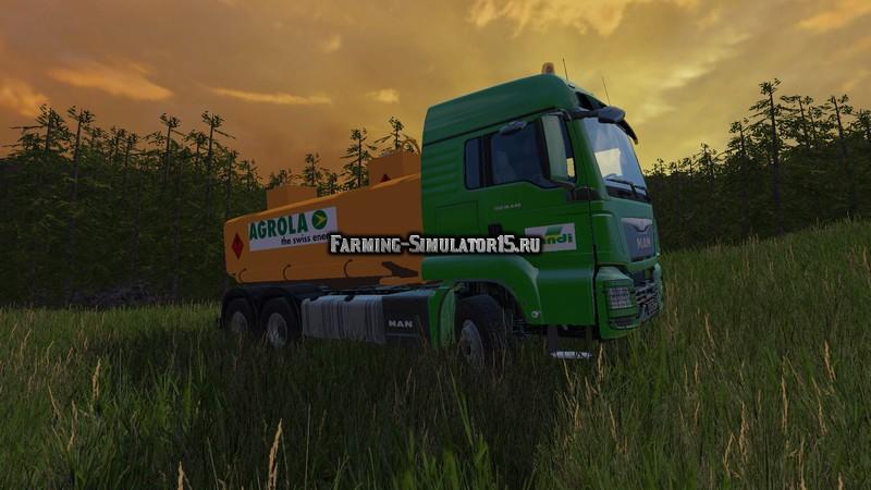 Мод топливозаправщик MAN Farming Simulator 2015