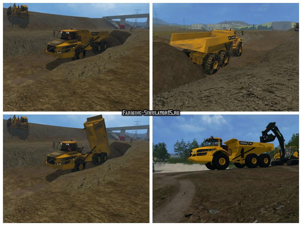 Мод грузовик Volvo A40G v 2.0 Farming Simulator 2015