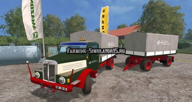 Мод грузовик IFA S 4000 & Trailer v 1.0 Farming Simulator 2015