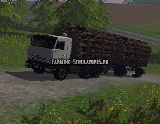Мод грузовик КамАЗ 53212 и Нефаз 8332 Лесовоз Фарминг Симулятор 2015