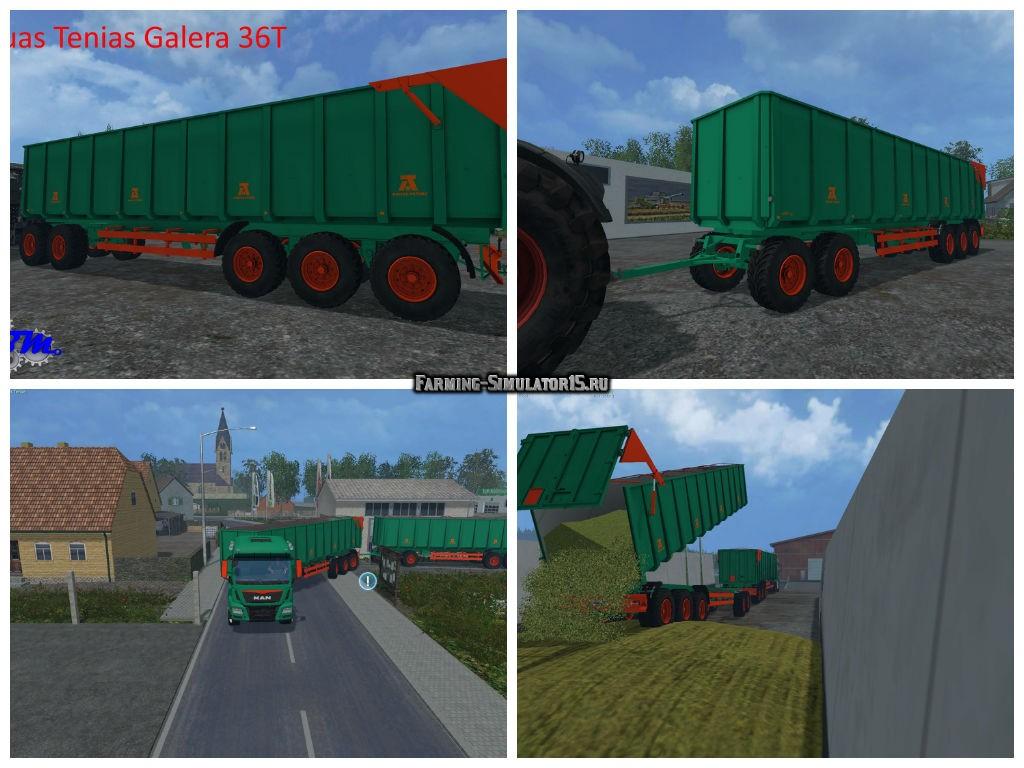 Мод прицеп Aguas Tenias Galera 36T v 1.0 Farming Simulator 2015