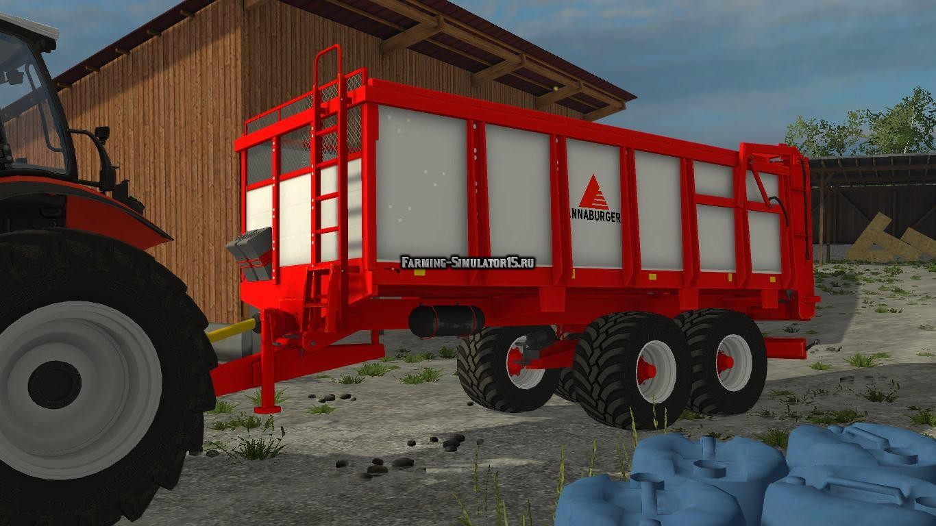 Мод прицеп Annaburger Manure Spreader v 1.0 Farming Simulator 2015