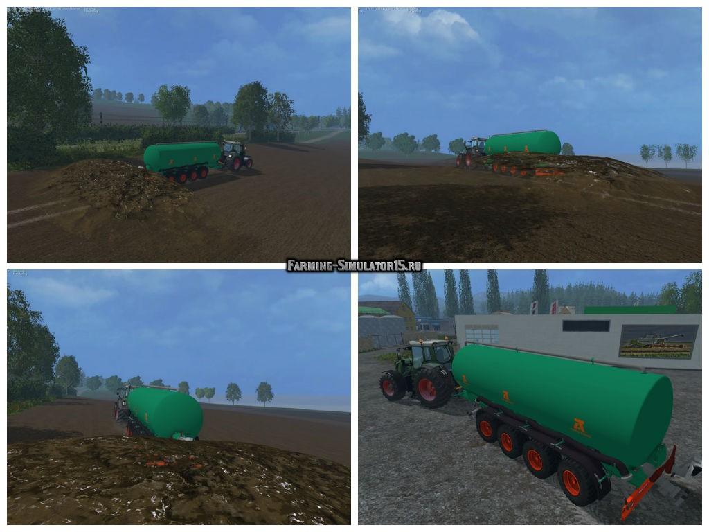 Мод прицеп Aguas Tenias CTE30L v 1.0 Farming Simulator 15