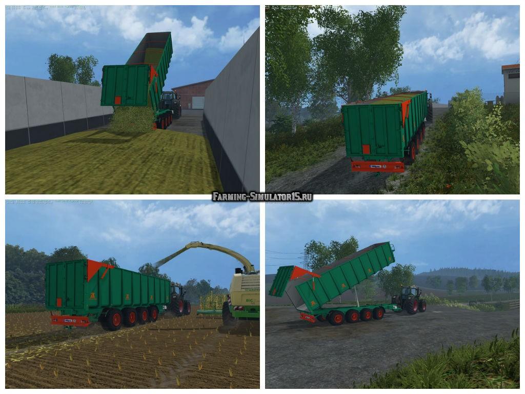 Мод прицеп Aguas Tenias Tetradem 32T v 1.0 Farming Simulator 2015