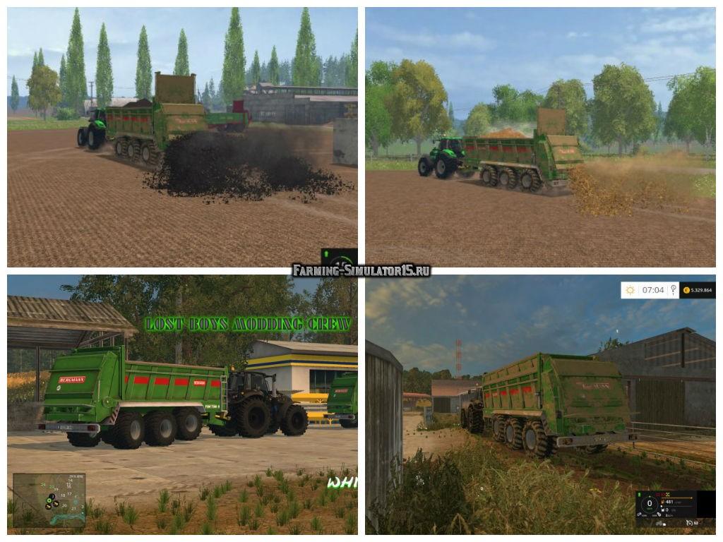 Мод прицеп Bergmann TSW 7340SV v 1.5 Farming Simulator 2015