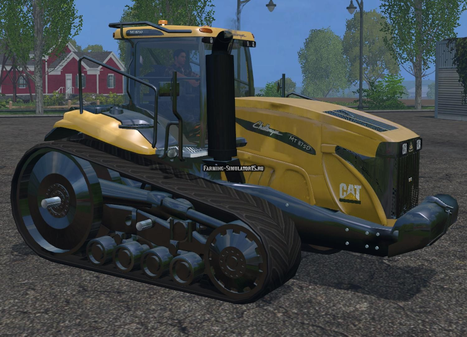Мод трактор Cat Challenger MT875D v 2.1 Farming Simulator 15