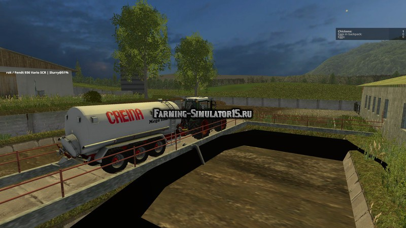 Мод прицеп Creina CVC 25000 TRI v 1.0 Farming Simulator 15