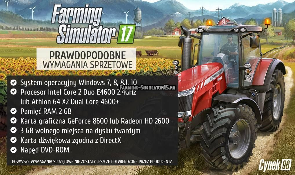 Системные требования Farming Simulator 17