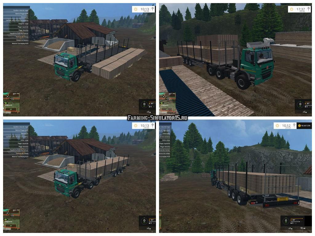 Мод прицеп Fliegl Universal Semitrailer autoload v 1.3 Farming Simulator 2015