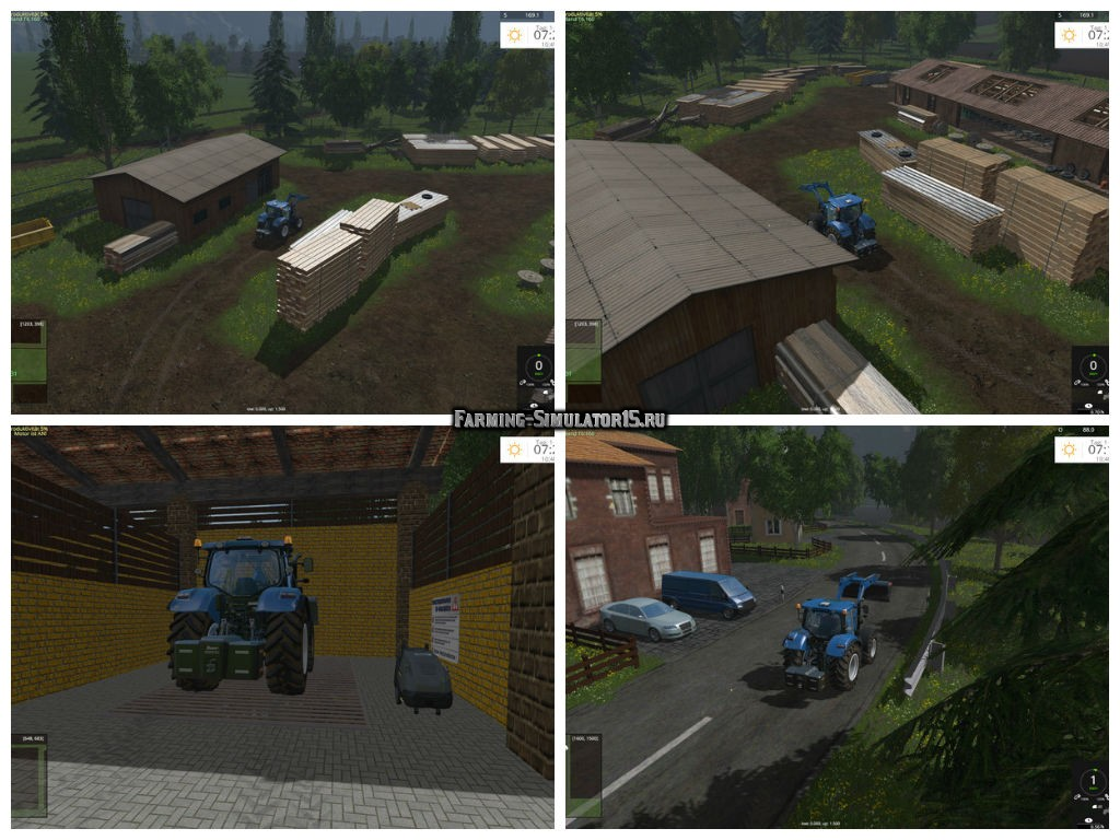 Мод карта Grazyland Map V 1.4.2.1 RUS Farming Simulator 15