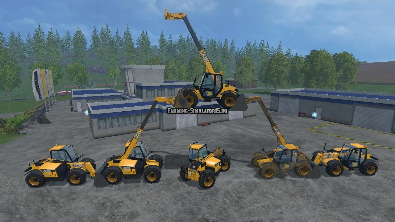 Мод погрузчик JCB 526-56 v 1.0 Farming Simulator 2015