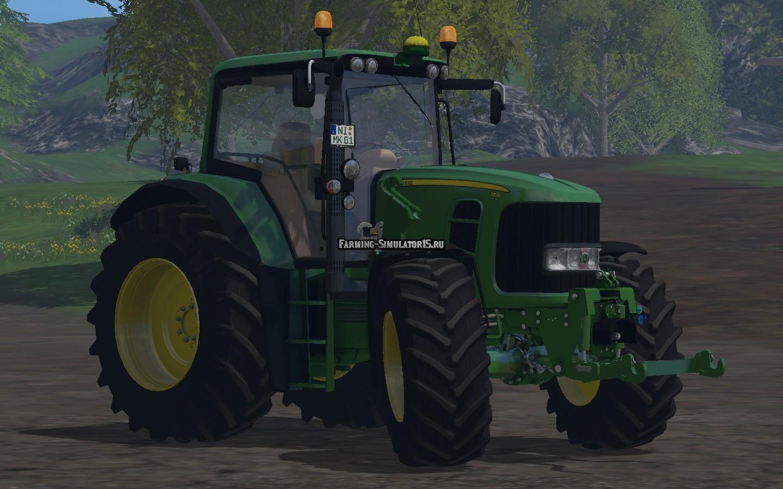 Мод трактор John Deere 7530 Premium v 2.0 Farming Simulator 15