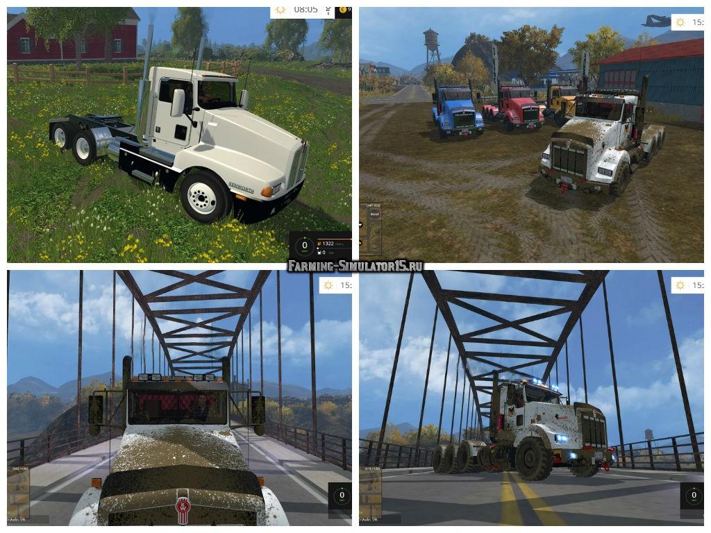 Мод грузовик Kenworth T800 v 1.0 Farming Simulator 15