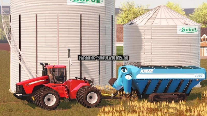 Мод прицеп Kinze 1300 Grain Cart v 1.0 Farming Simulator 15