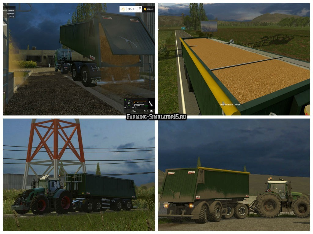 Мод прицеп Kroeger Agroliner SMK 34 v 1.3 Farming Simulator 15