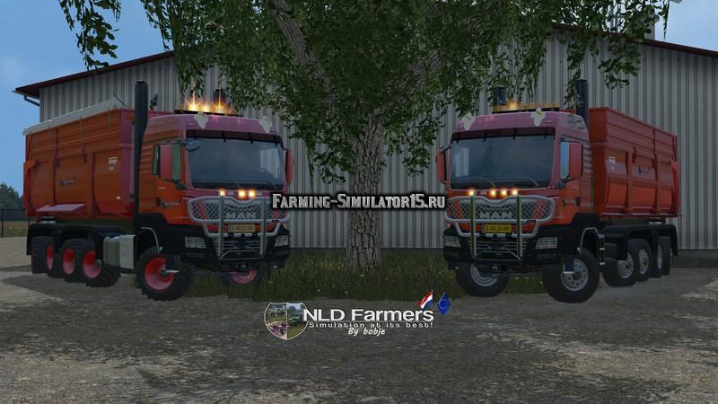 Мод грузовик MAN TGS 10X8 KrampeBB900S v 1.3 Farming Simulator 15