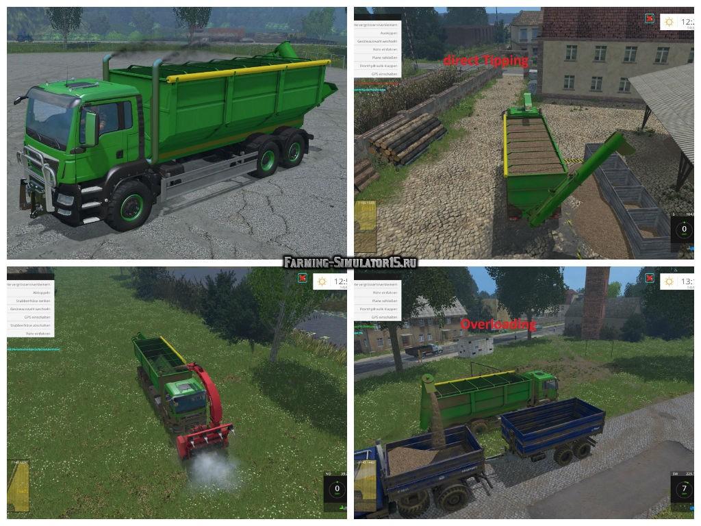 Мод Man TGS 6X4 Pack v1.0 Farming Simulator 2015
