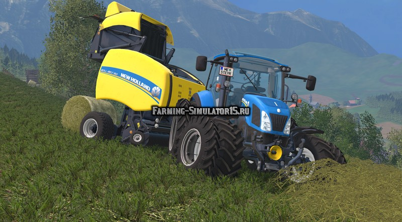 Мод трактор New Holland T5.115 FL Farming Simulator 15