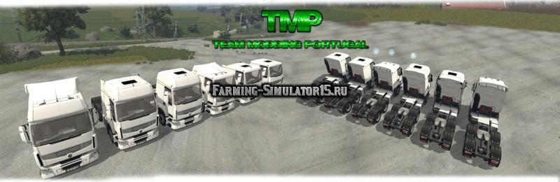 Мод ПАК грузовиков Renault Premium 4x2 / 6x2 Pack v 1.0 Farming Simualtor 2015