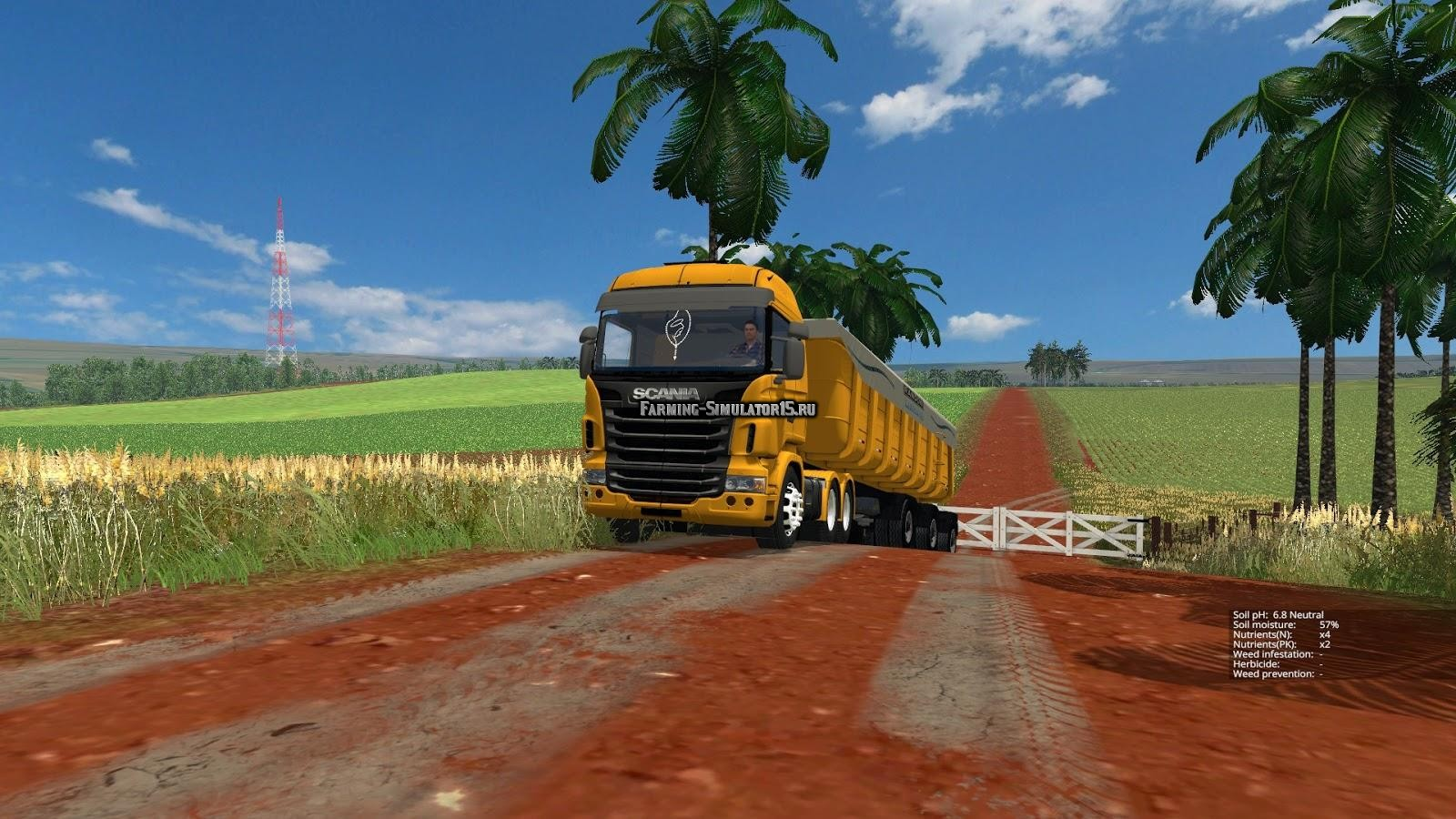 Мод тягач Scania r480 Farming Simulator 2015