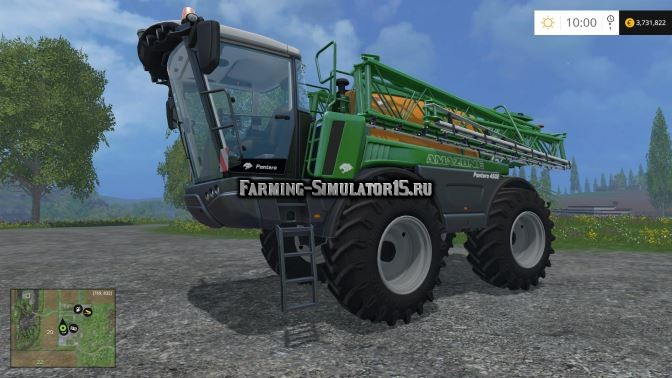 Мод опрыскиватель Amazone Pantera 4502 v 1.0 Farming Simulator 15