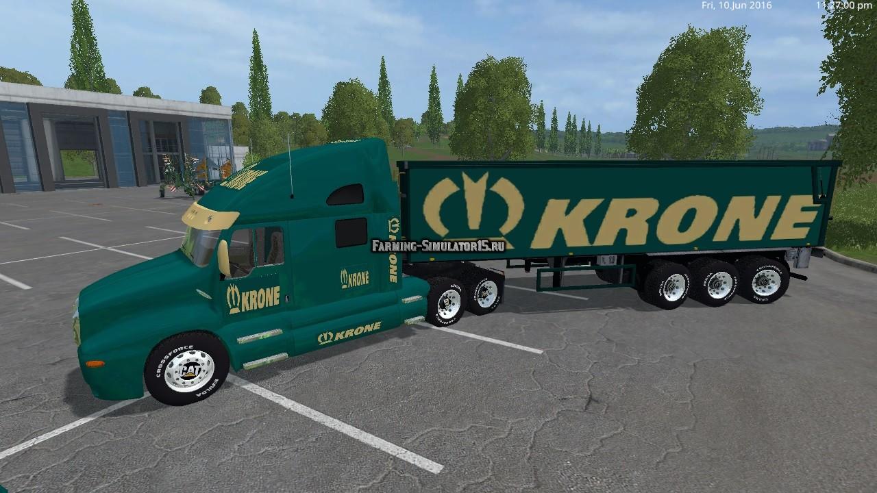Мод KRONE CAT TRUCK AND KRONE CAT SEMI TRAILER Farming Simulator 2015