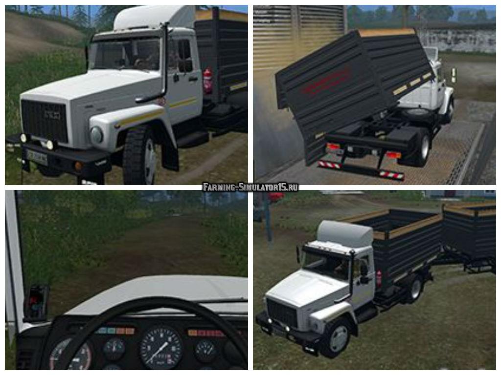 Мод грузовик САЗ 35071 и прицеп Фарминг Симулятор 2015