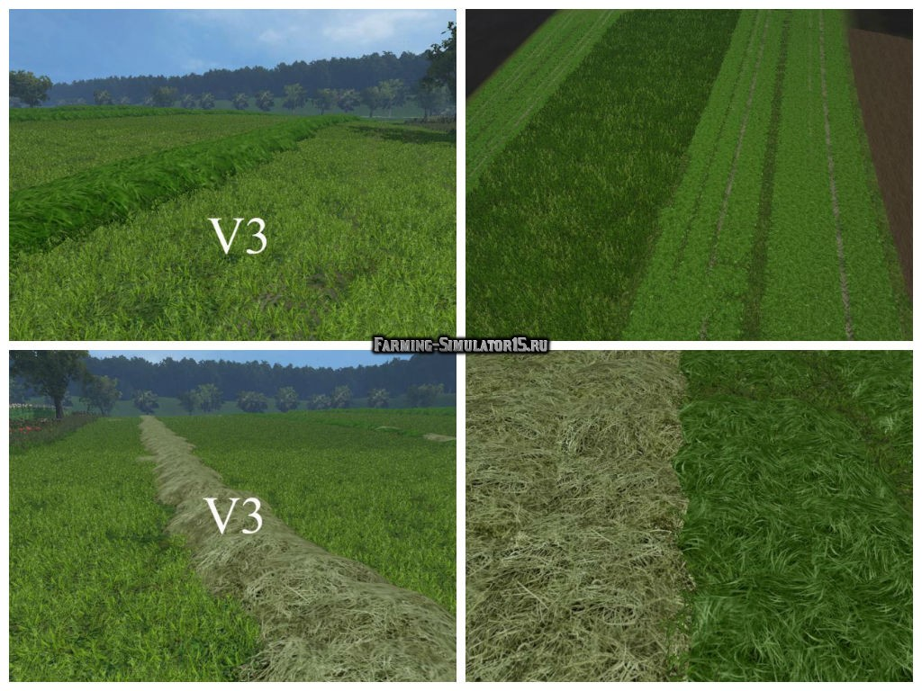 Текстуры травы New grass texture v 3.0 Farming Simulator 15