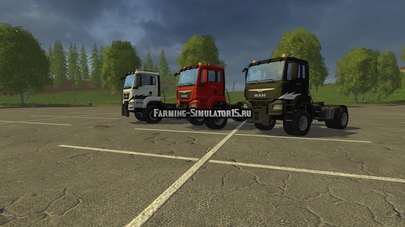 Мод грузовики Man Agro Truck v 1.0 Final Mit Bullenfänger Farming Simulator 15