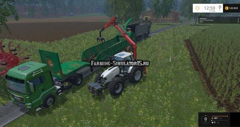 Мод щепогрыз Monster Chipser v 1.6 Farming Simulator 2015