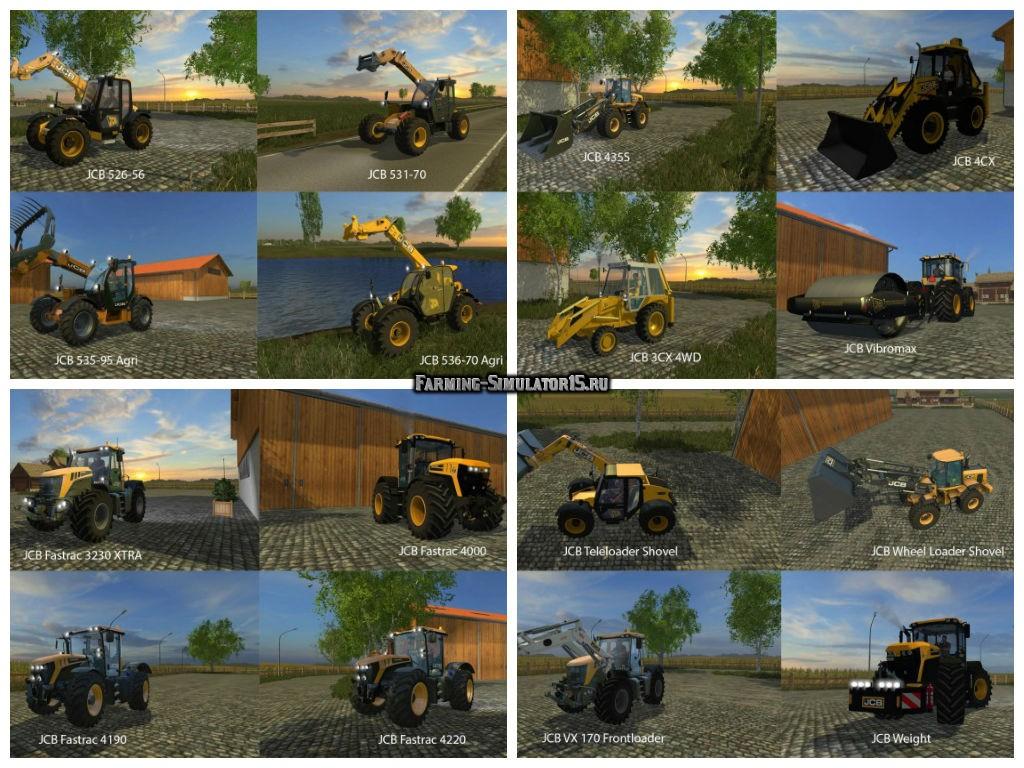 Мод Big mods pack v 18 JCB PACK Farming Simulator 2015