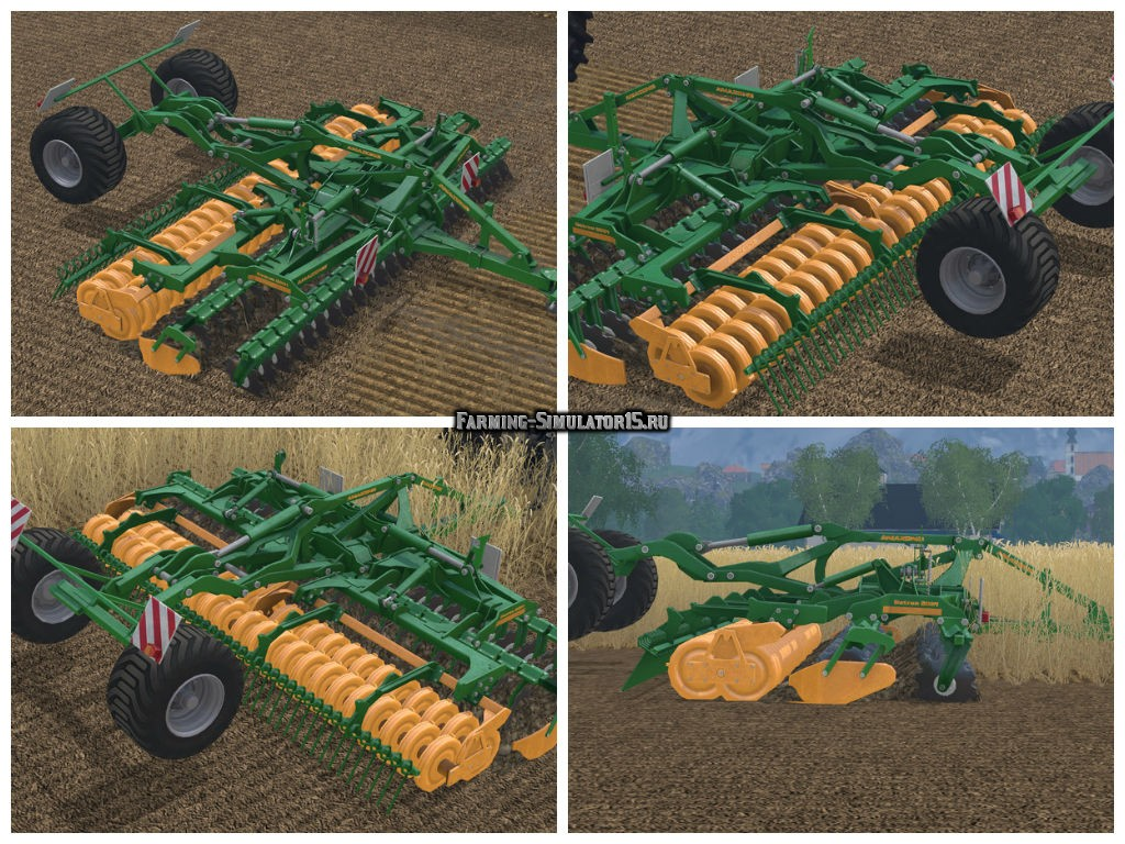 Мод культиватор Amazone Catros 6001 mit Fahrgestell v 1.0 Farming Simulator 15
