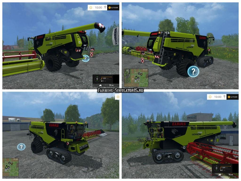 Мод комбайн Claas Lexion 795 v 1.0 Farming Simulator 15
