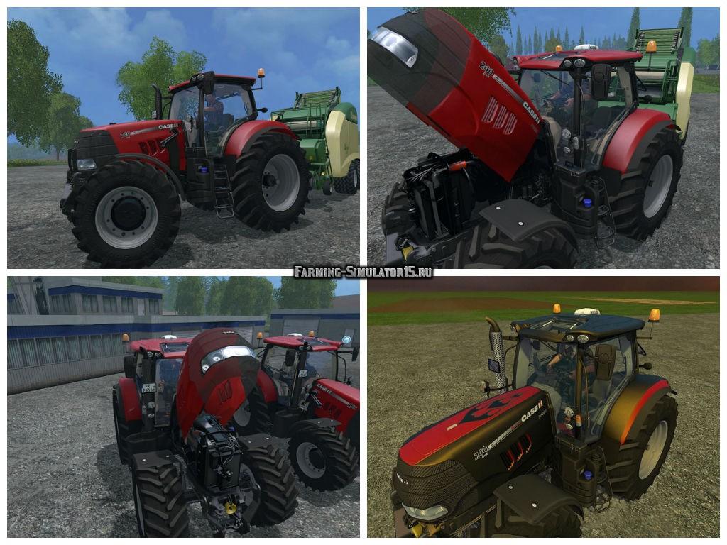 Мод трактор Case Puma 240 CVX FL v 1.5 Farming Simulator 2015
