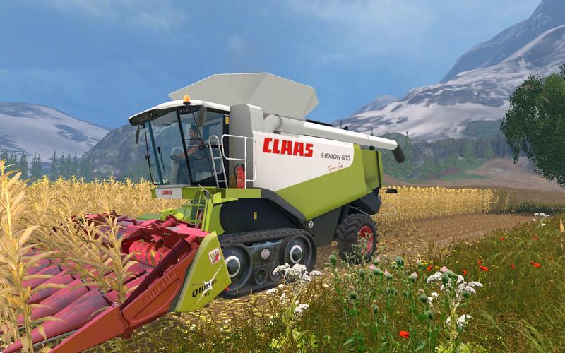 Мод комбайн Claas Lexion 580/600 v 1.6 Farming Simulator 2015
