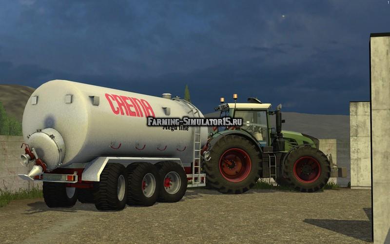 Мод прицеп Creina CVC 25000 TRI v 1.1 Farming Simulator 15