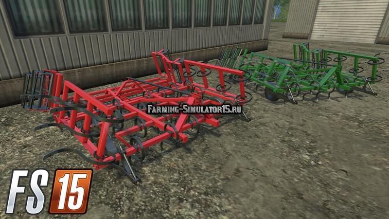 Мод культиватор Cultivator 3.5m v 1.0 Farming Simulator 15