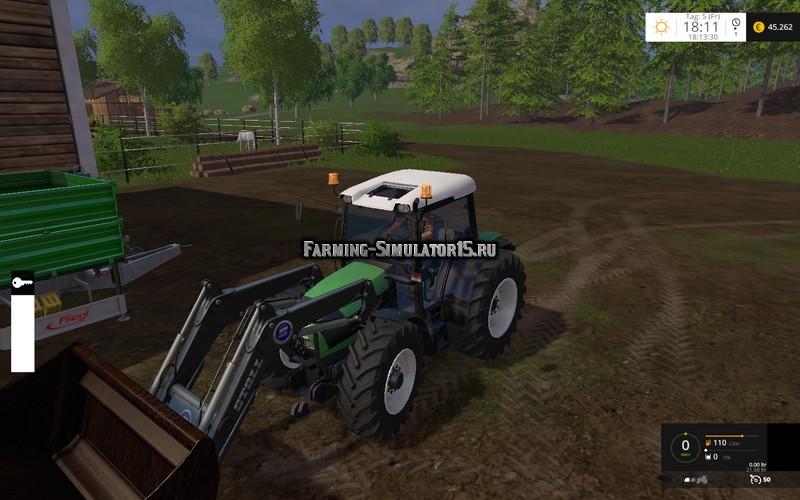 Мод трактор Deutz Fahr Agrofarm 430 FL v 1.4 Farming Simulator 15